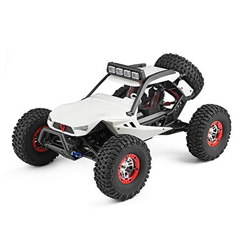 W-star Fernbedienung Auto, Off-Road Rock Kettenfahrzeug LKW, 2,4 GHz 4WD 1:12 funkgesteuerte Renngeländewagen 40 km/h, mit Hellen LED-Scheinwerfer, Kinder