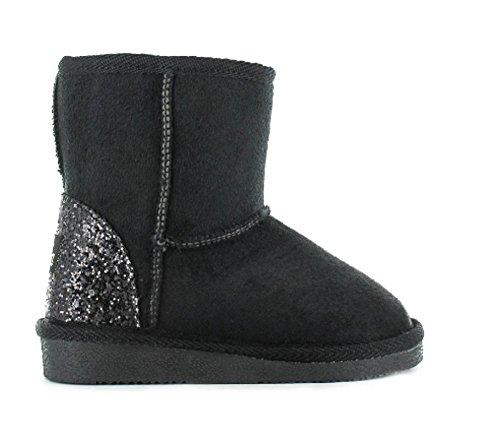 Größe Stiefel Mädchen 13 (Ella Shoes, Mädchen Stiefel & Stiefeletten , schwarz - schwarz - Größe: 34)