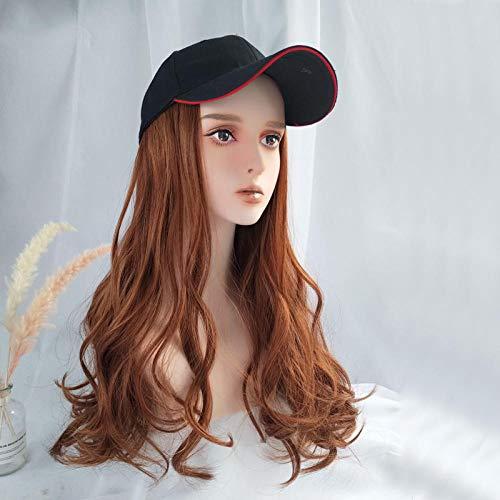 Hut Perücke eine weibliche Sommer langes lockiges Haar große Welle mit Kapuze voller Kopfbedeckung Stil Flut @ Dirty - Dirty Hippie Kostüm