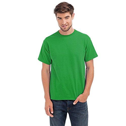 Hanes Beefy-T - Herren Rundhals T-Shirt - kurzärmlig - einfarbig Grün