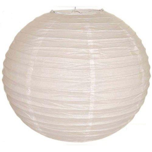 "TOOGOO(R) Blanco chino / japones Linterna de papel / Lampara 8 ""Diametro"