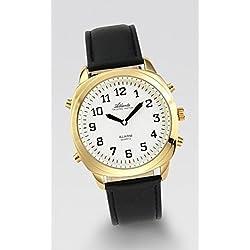 Sprechende Armbanduhr Men Gold/White