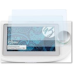 Bruni Protecteur d'écran Convient pour Vorwerk Thermomix® TM6®, Film Protecteur Cristal Clair Écran Protecteur (2X)