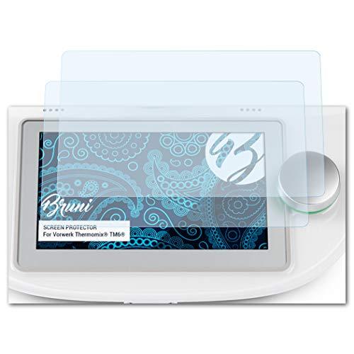 Bruni Schutzfolie passend für Vorwerk Thermomix® TM6®, Folie glasklare Displayschutzfolie (2X)