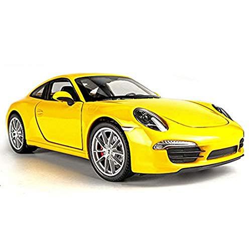 Zyyqt Modèle de Voiture -1: 24 Porsche 911 Carrera S Voiture de Sport Simulation en Alliage modèle de Voiture Décoration de Voiture (Color : Yellow)