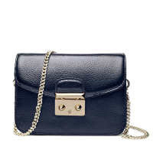 PACK Borse Borsa Portable Messenger Mini Borsa Catena Serratura Piccolo Borsa Square Bag,B':Black(large) C':SapphireBlue(large)