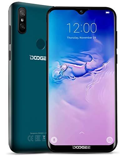 DOOGEE Y8 Android 9.0 Moviles Libres 4G, Smartphone Libres Teléfono Dual Sim 3GB+32GB, 19:9 Pantalla 6.1 '' 3400mAh, Cámara Trasera Doble 8MP+5MP, Face ID + Huella Digital - Verde