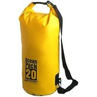 Karana Ocean Dry Pack Day Waterproof Travel Kayak Bag 20 Litre 20L Yellow