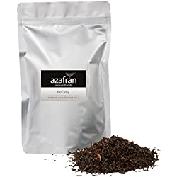 BIO Earl Grey Schwarzer Tee - Darjeeling Schwarztee mit Bergamotte Öl lose (250g) - ca.125 Tassen von Azafran®
