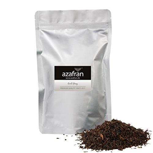 BIO Earl Grey Schwarzer Tee – Darjeeling Schwarztee mit Bergamotte Öl lose (250g) – ca.125 Tassen Genuss von Azafran®
