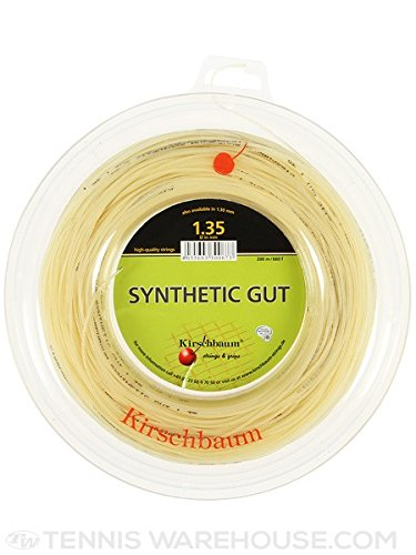 Kirschbaum Spule Synthetik gut Naturdarm Tennis Saite, Natur, 1.35mm/15-Gauge