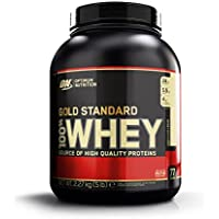 Optimum Nutrition Gold Standard 100% Whey Protein Powder, Vanilla Ice Cream, 2.27 kg