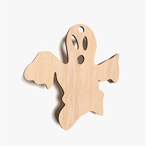 10x-Geist-Boo-Spooky-Form-Holz-Basteln-Dekoration-Malen-Haengedeko-X36