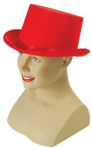 Bristol Novelty BH501Top Hat Rot Satin, One - Musikalische Halloween-ideen