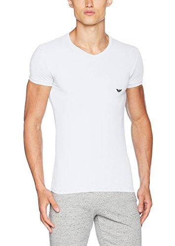 Emporio Armani Underwear Herren 110810CC729 Schlafanzugoberteil, Weiß (BIANCO 00010), Small