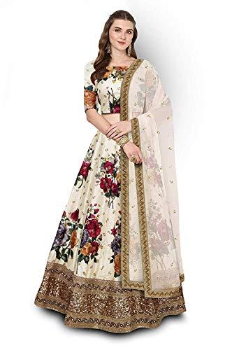 Next Enterprise women\'s Embroidered Floral Print Semi Stitched lehengas, lehenga choli (SBE-01,FreeSize)
