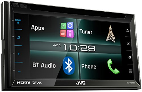 JVC KW-V620BT Doppel-DIN DVD/CD/USB-Receiver (HDMI, MHL, Bluetooth) schwarz (Jvc Hdmi)