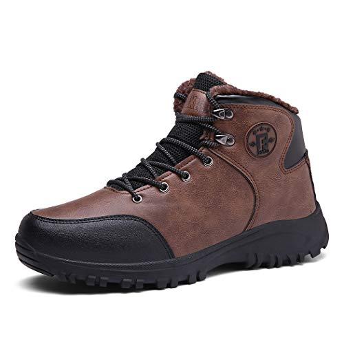 Veluckin Invierno Botas Walkers Botas de Senderismo/Trekking Botas de algodón con Cordones,Marrón,44EU
