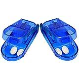 Andux 2pcs Dispositivo de Drogas tabletas cortante corte Box Bill Splitter Medicina linda (Azul) QYQ-01