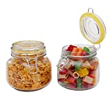Kurtzy Glass Jar Canister Storage Container Airtight Lid Buckle Clip Top Kitchen Food