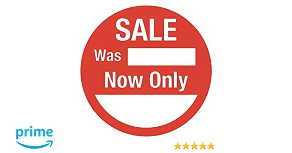 SALE LABELS PRICE PRICING  LABELS STICKERS WAS NOW ONLY RETAIL CLEARANCE