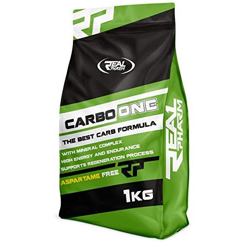 Real Pharm Carbo One Kohlenhydrate Mineralien Energie - 1000g (Grenadine (Granatapfelsirup))