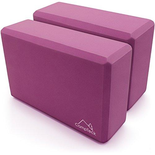 mstoff Yoga Block Leicht Eva Yoga Blöcke für Pilates, Fitnesstraining, Kraft, Gleichgewicht und Flexibilitätstraining - Lila, 2 Stück ()