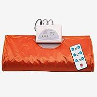 NICEWL Manta de Sauna para Bolsa de Pérdida de Peso,Baño de Vapor Portátil para Sauna de Calor Infrarrojo,Moldeador de Cuerpo Adelgazante de Pérdida de Grasa de Desintoxicación Casera,Naranja