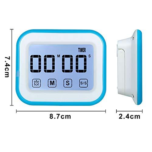 38a598769afec3 MOSUO Timer da Cucina Touch-Screen, Magnetico Timer Digitale/Clock ...