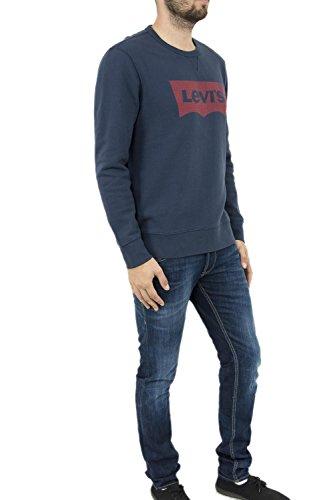 Levi's Herren, Sweatshirt, Graphic Crew B Blau