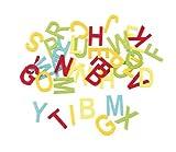 Filz-Deko-Streuteile Buchstaben, bunt, 40 St.