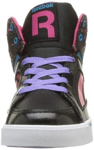 Reebok Ksee You Mid, Mädchen Sneaker Schwarz - Noir (Black/Pink Fusion)