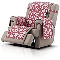 Agatha Ruiz de la Prada cubre sillón relax Fantasy, tamaño 1 plaza (55cm), color rojo