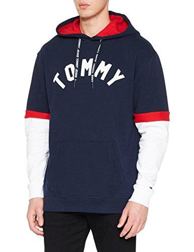 Tommy Jeans Men's TJM Colorblock Hoodie Sweatshirt