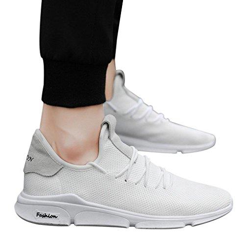 ABSOAR Sneaker Mesh Sneaker Herren 2018 Neue Sommer Schuhe Turnschuhe Fitnessschuhe Gym Schuhe Freizeitschuhe Leinwand Sneaker Joggingschuhe Sportschuhe,Absolute (42 EU, Weiß)