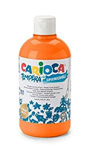 Carioca - Botella témpera 500 ml, Color Naranja (KO027/11)