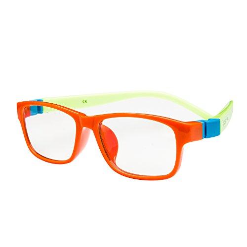 PROSPEK - KIDS COMPUTER BRILLEN: Anti Blaulicht Brillen für Kinder ab 4 Jahren (Action - Orange)