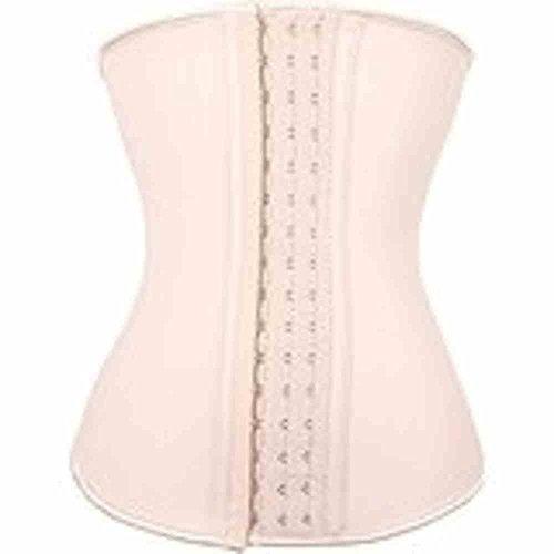 Leidenschaft Nights Damen Gewicht Verlust Latex Stahl mit Stäbchen Taille Ausbildung Korsett fördert das Schwitzen Body Shaper Fat Burner Beige