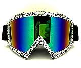 YOU+ Skibrille, Skibrille, Snowboarding, Schneespray - Damen, Herren, Damen, Teenager und Teenager - OTG-Schutzbrillen, beschlagfreie und UV-beständige Sonnenbrillen mit Wechselglas - Mehrfarbig