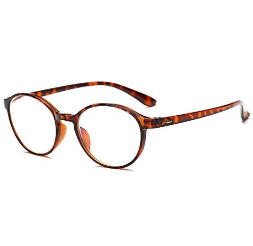 VEVESMUNDO® Lesebrillen Damen Herren Spring Scharnier Augenoptik Flexibel Brille Lesehilfe Sehhilfe ArbeitsplatzbrilleVollrandbrille Schwarz Braun Schildpatt brille (BRAUN(Schildpatt Rahmen), 3.5)