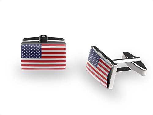 Manschettenknöpfe american Stars (Vereinigten Staaten von Amerika Flagge Manschettenknöpfe mit Geschenk-Box)