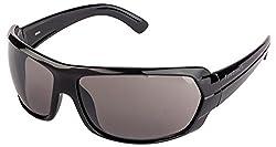 FASTRACK (P190BK1) WRAPAROUND Style Black color Sunglasses, for MEN,WOMEN