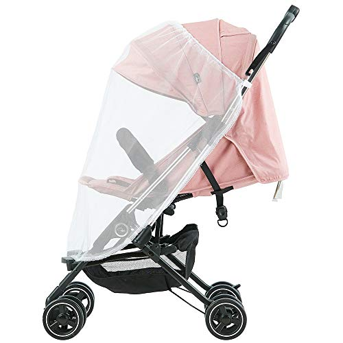 Roma Capsule² Compact Airplane Travel Buggy from Newborn + Rain Cover, Insect Net and Travel Bag, Only 5.6 kgs - Pink with a Chrome Chassis  Roma