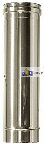 CHEMINEE PAROI SIMPLE TUYAU TUBE INOXIDABLE AISI 316 - dn 140 lunghezza 025 mt L 250 canna fumaria tubo acciaio inox 316 parete semplice