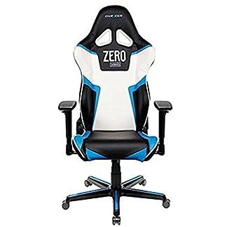 Dxracer – Silla Gaming rz118 Negro, Azul y Blanco