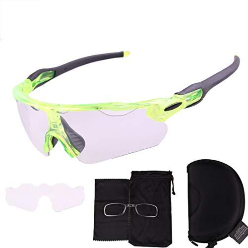 549d4262fa JESSIEKERVIN YY3 Gafas de Sol Deportivas monocromáticas Semi-sin Montura  Protección UV400 polarizada Conducción Ciclismo