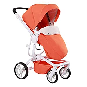 C.N. High Landscape Two-Way Baby Stroller Can Sit Reclining Light Folding Baby Stroller Child Portable Umbrella   8