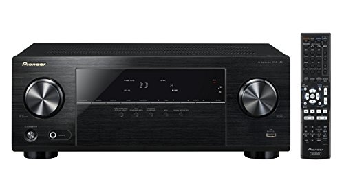 Pioneer VSX-430-K 5.1 AV Receiver (130 Watt pro Kanal, 4K Ultra HD Passthrough, HDMI mit HDCP2.2, Bluetooth, Eco-Mode) schwarz
