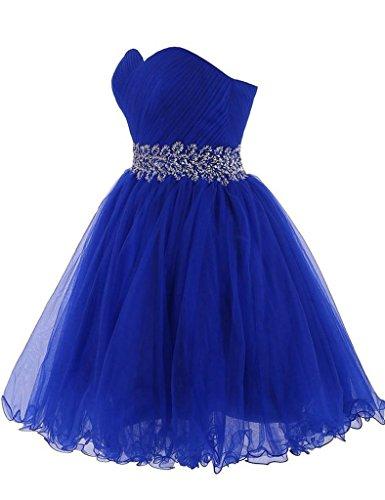 HUINI Damen Modern Kleid Sky_Blue