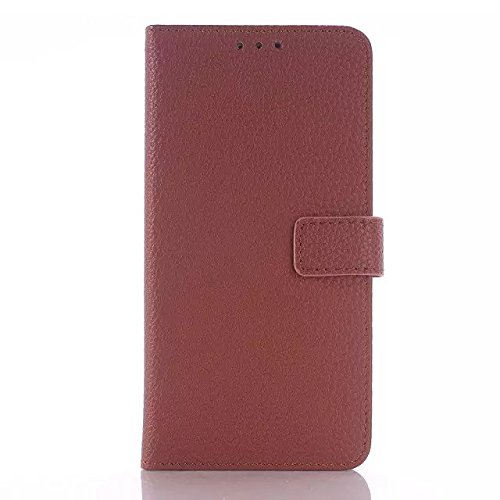 Samsung Galaxy S6 Case,einfarbig Zu Muster Lederetui Schutzhülle Für Samsung S6 ( Color : Black , Size : Samsung S6 ) Brown